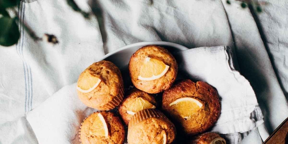 muffin al miele per il tè